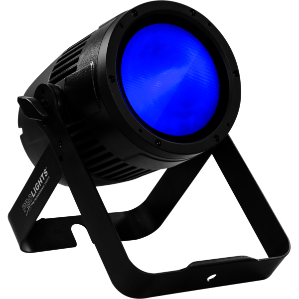 The PROLIGHTS StudioCob Plus IP65 LED PAR Range feature a powerful RGBW source, interchangeable lenses and barndoor control.